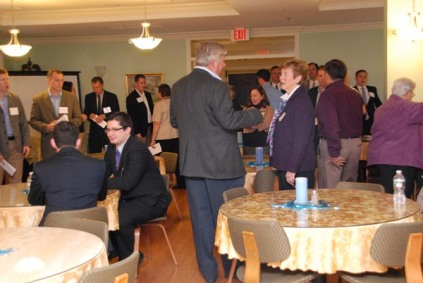 Luncheon attendees enjoy networking